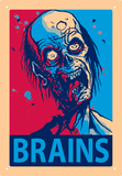 Zombie Brains Tin Sign Tin Sign