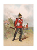 Queen's Regiment Giclee Print by G.d. Giles