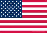 USA Flag Tin Sign Plaque en métal