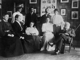 Opening of Julia's Bureau, with W T Stead and Staff Photographic Print by H Blackwell