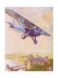 Potez Monoplane Giclee Print by Geo Ham
