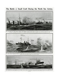 Small Craft in North Sea Action by G. H. Davis Giclee Print by G.h. Davis