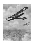 Handley-Page Bomb-Carrying Biplane, WW1 Giclee Print by Geoffrey Watson