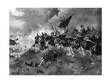 Battle of Dettingen Giclee Print by Henri Dupray