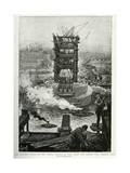 Tower Bridge Built 1892 Giclee Print by Henri Lanos