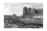 Paris Notre Dame Giclee Print by Frederick Nash