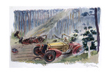 Motor Race, Lemans, 1933 Giclee Print by Geo Ham