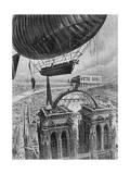 Airship Station Paris Giclee Print by Henri Lanos