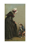 Mother Hubbard, Curtsey Giclee Print by Harrison Weir