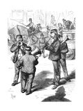 German Street Band, 1870 Giclee Print by Frederick Barnard