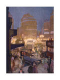 Piccadilly Circus Giclee Print by Graham Simmons