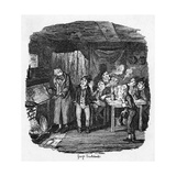 Oliver Meets Fagin Giclee Print by George Cruikshank