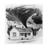 Tornado Approaches Kirksville, Missouri, 1889 Giclee Print by George Varian