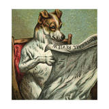Mother Hubbard, Reading Giclee Print by Harrison Weir