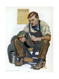 Social, Man on Strike Giclee Print by Gil Spear