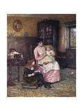 Nanny with Children Giclee Print by Helen Allingham