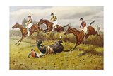 Steeplechase with Faller Giclee Print by George Wright