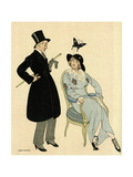 Couple Artistic Dress Giclee Print by Gerda Wegener