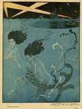 Georges Barbier - Mermaids and U-Boats - Giclee Baskı