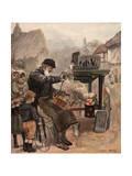 Tinker Mends Pot 1894 Giclee Print by Harry Tuck