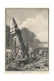 Erecting a Menhir Giclee Print by Georges Devy