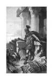Gaius Marius at Carthage Giclée-Druck von Hermann Vogel