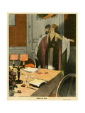A Table for Two, 1918 Giclee Print by Georges Leonnec