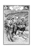 Highlanders Leading their Blinded Officer, WW1 Giclee Print by Georges Scott