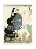Fur-Trimmed Dress 1916 Giclee Print by Gerda Wegener