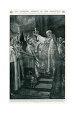 Ceremony of Crowning of King George V's Head Giclee Print by Georges Scott