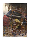 Ship Construction German Premium Giclee Print by Heinrich Kley