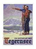 German Ski Poster Gicléetryck av Harry Mayer