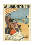 Beach Watchers Giclee Print by Georges Leonnec