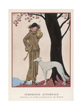 Lady and Saluki 1922 Giclee Print by Georges Barbier