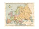 Map, Europe C1840 Giclee Print by J Brown