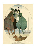 German Dachshunds 1916 Giclee Print by Gerda Wegener