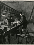 Edison, Lab, Electric Lite Photographic Print by H Harral