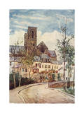 France, Laon Street 1907 Giclee Print by Herbert Marshall