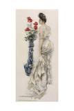Howard Chandler Christy - Female Type, Lacy Dress Digitálně vytištěná reprodukce