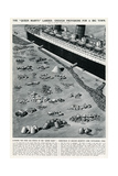 Catering for 3000 People on the Queen Mary Ocean Liner Giclee Print by George Horace Davis