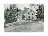 House of William Cullen Bryant Giclee Print by Harry Fenn