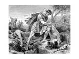 Brutus Commits Suicide Giclée-Druck von Hermann Vogel