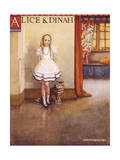 Alice and Dinah Giclee Print by Gwynedd Hudson