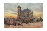 Le Mans, Cathedral 1907 Giclee Print by Herbert Marshall