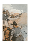 Gold Prospectors on the Way to Coolgardie, Australia Giclee Print by George Harding