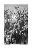Porus's War Elephants Giclee Print by H Lentemann