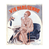 Woman in Negligee and Slip Giclee Print by Georges Leonnec