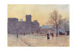 London, Whitehall, 1900 Giclee Print by Herbert Marshall