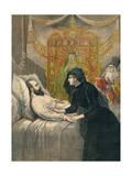 Tsar Alexander Deathbed Giclee Print by Henri Meyer