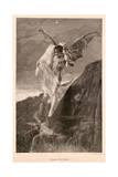 Devil and Lady, Ca 1894 Giclee Print by J Koppay